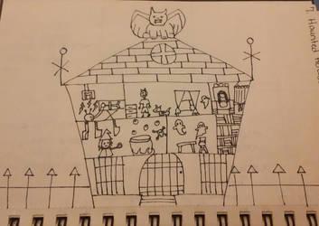 haunted house by crochetamommy