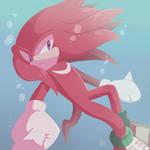 SONIC - Knuckles underwater