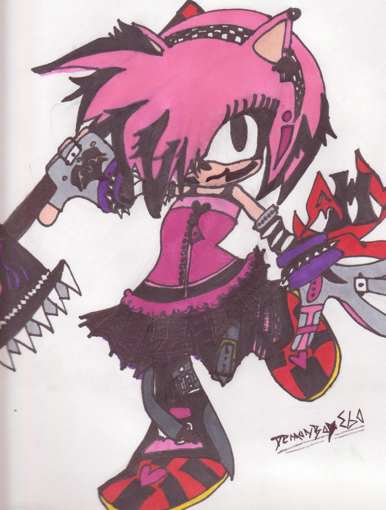 Amy rose emo by demonboy360 on deviantart - Emo rose pictures ...