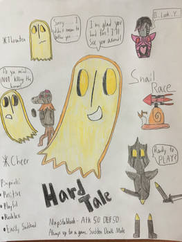 Hardtale Napstablook contest entry (Again)