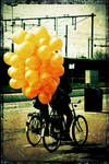Balloons on a bike