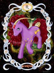 Zodiac Poney: Scorpio by WhiteNenufar