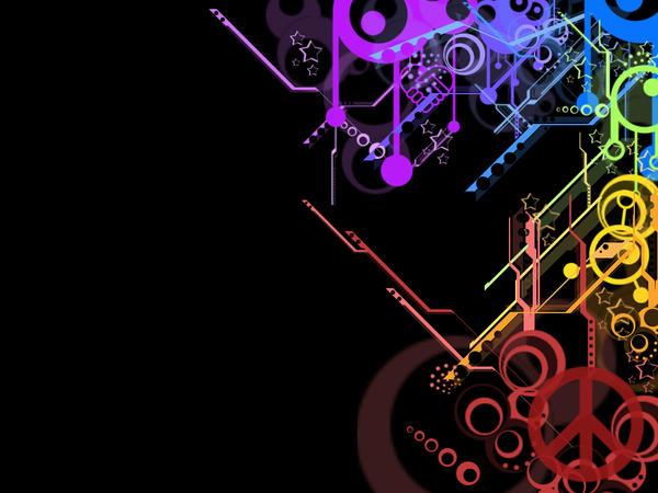 Rainbow Wallpaper 3 Black by rogueXunited