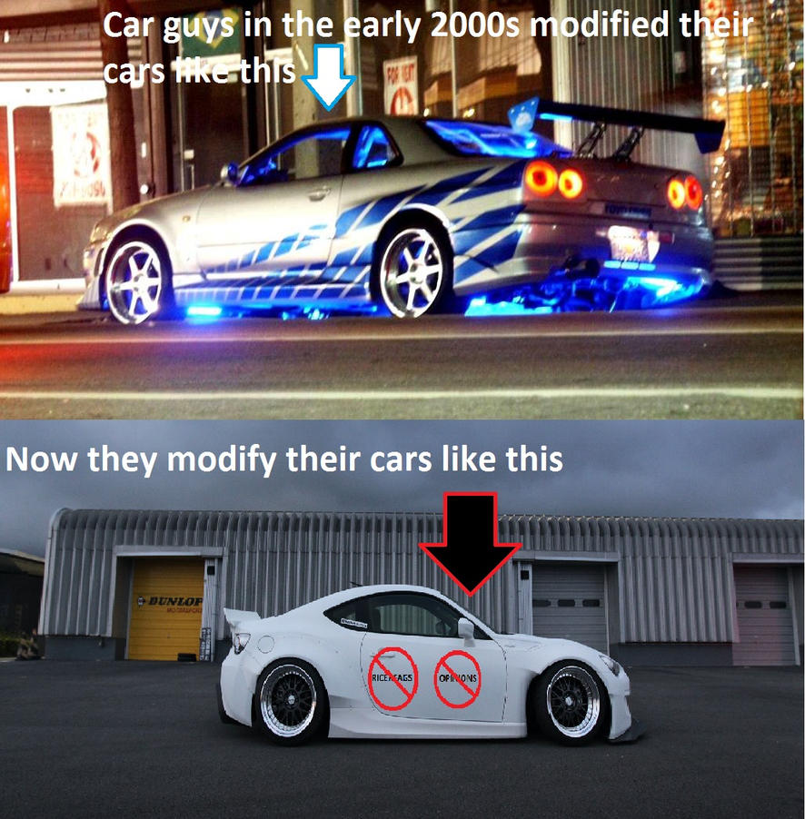 Modified Cars Then Vs Now By Superswagmlg On DeviantArt - Cool cars from the 00s