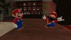 Nintendo Mario Meets SMG4 Mario