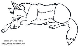 Coyote Body Lineart No Color