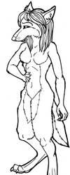 Free Female Werewolf Lineart by forumroleplay