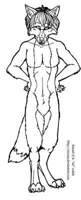 Free Male Werewolf Lineart Template