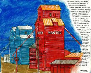 Grain Elevator - Nanton, AB by SuGaRLesSCaNdY