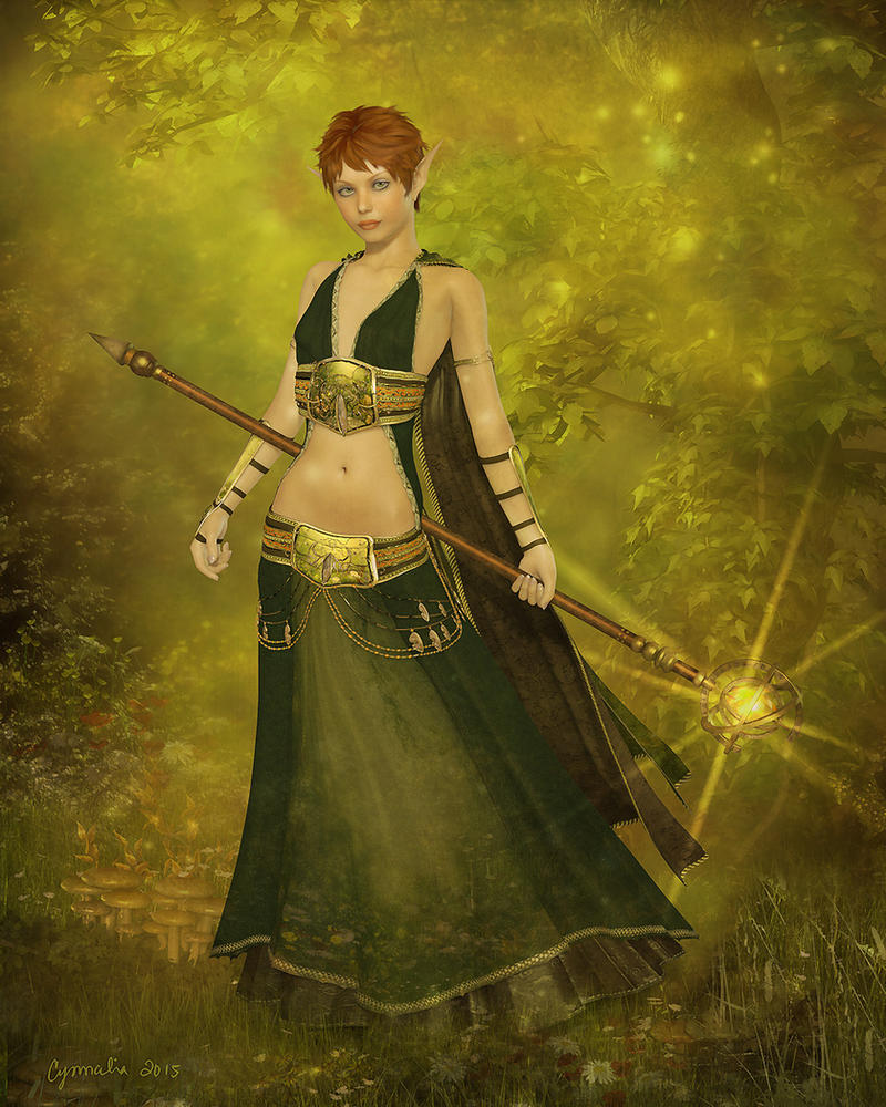 Dragon Age Inquistion - OC Elf Mellonie by Cynnalia