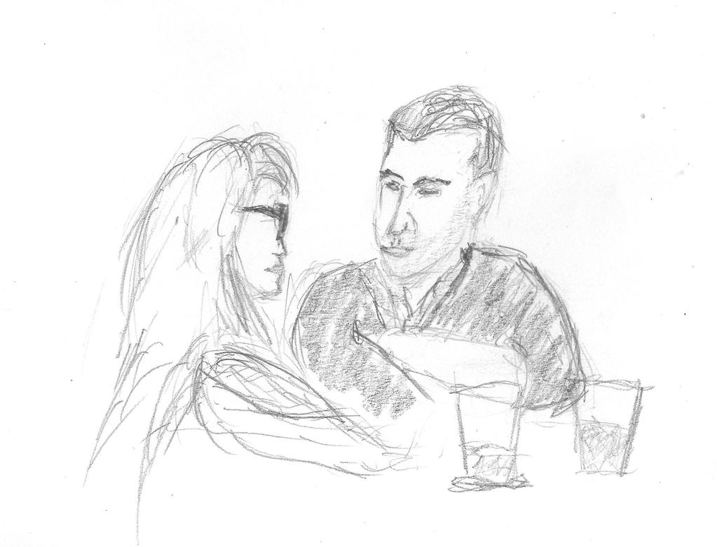 Couple At The Bar by sjwilde