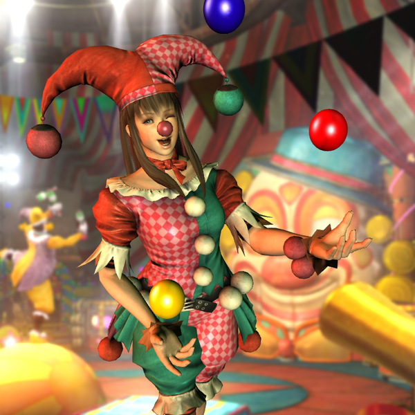 Hitomi Clown Outfit for XPS by wadamen