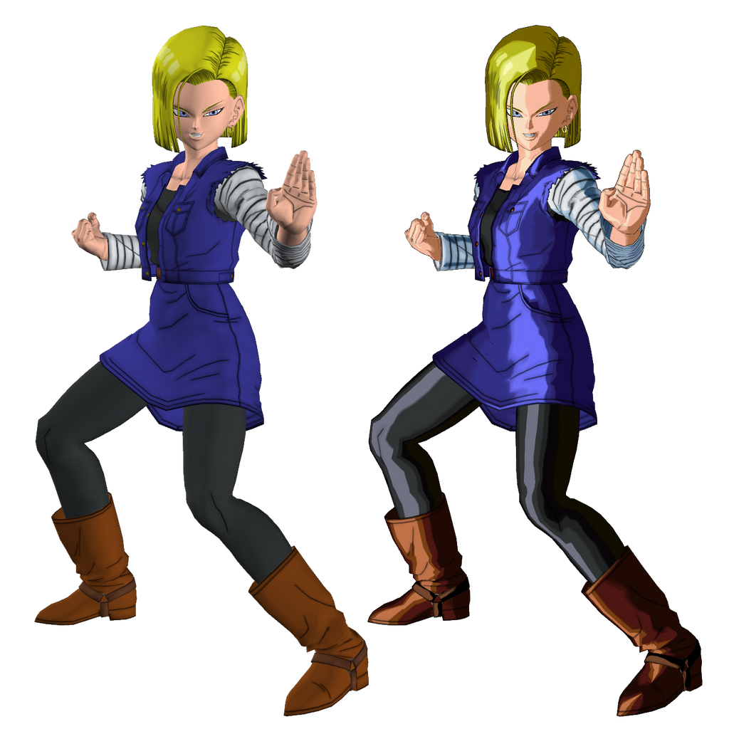 Android 18 From Dragon Ball XenoVerse XPS By Wadamen On
