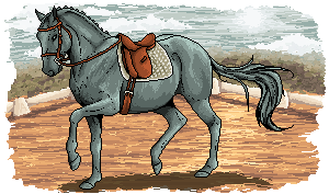 Pixel Dressage Horses 02 by snoxness