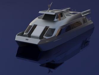 Catamaran concept design 4 by sinmania