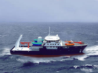 Hydrographic vessel 3d visualization by sinmania
