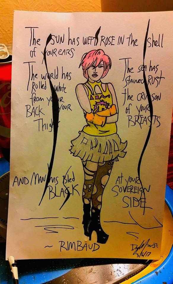 Girl/ Rimbaud Quote by nylandewhouse