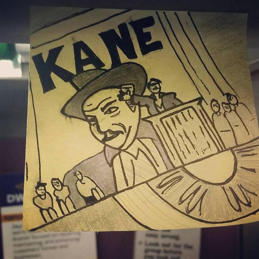 Citizen Kane (sticky note movie poster) by nylandewhouse