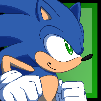 Sonic pixel icon by faster-by-choice