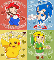 ~.Video Game Valentines.~ by Dynamo-Deepblue