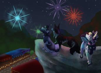 Summer Festival Fireworks (kemata prompt #29)