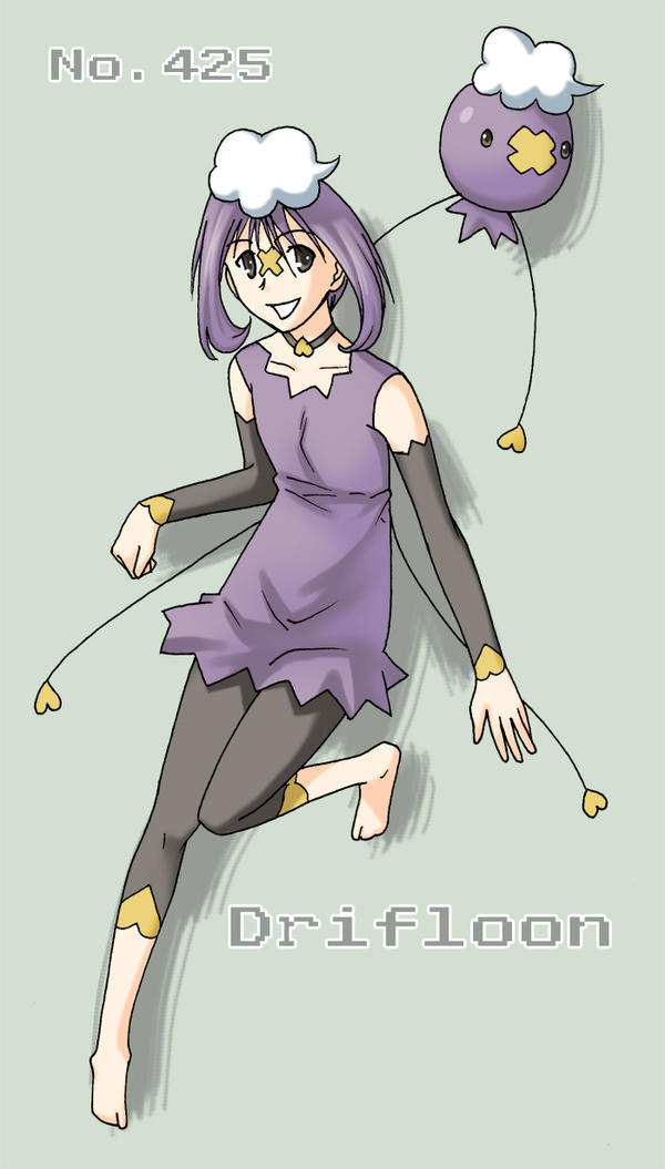 Pokemon Gijinka - Drifloon by sioAoi