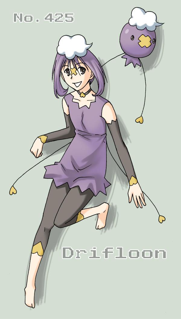 Pokemon Gijinka - Drifloon by sioAoi