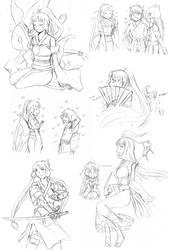 Pokimono Sketch Dump1 by sioAoi