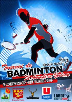 Affiche Tournoi de badminton