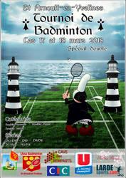Affiche Tournoi de badminton 2018