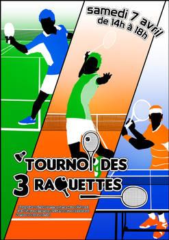 Affiche Tournoi des 3 raquettes