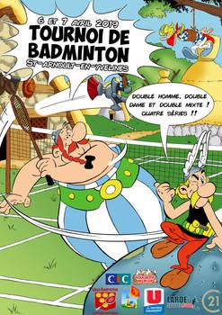 Affiche Tournoi de badminton 2019