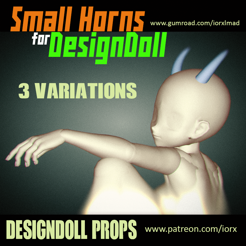 Small Horns for DesignDoll by iorX
