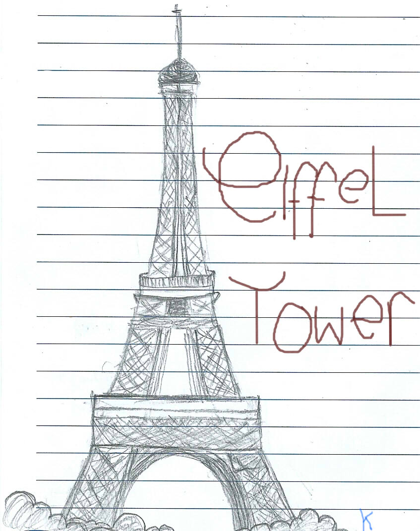 easy eiffel tower doodle - photo #16