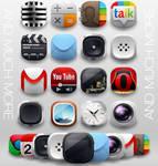 Modern Andorid Icon Pack - nova apex adw holo pro