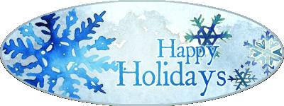Holiday Snowflake Signature Banner by HamaruNamikaze