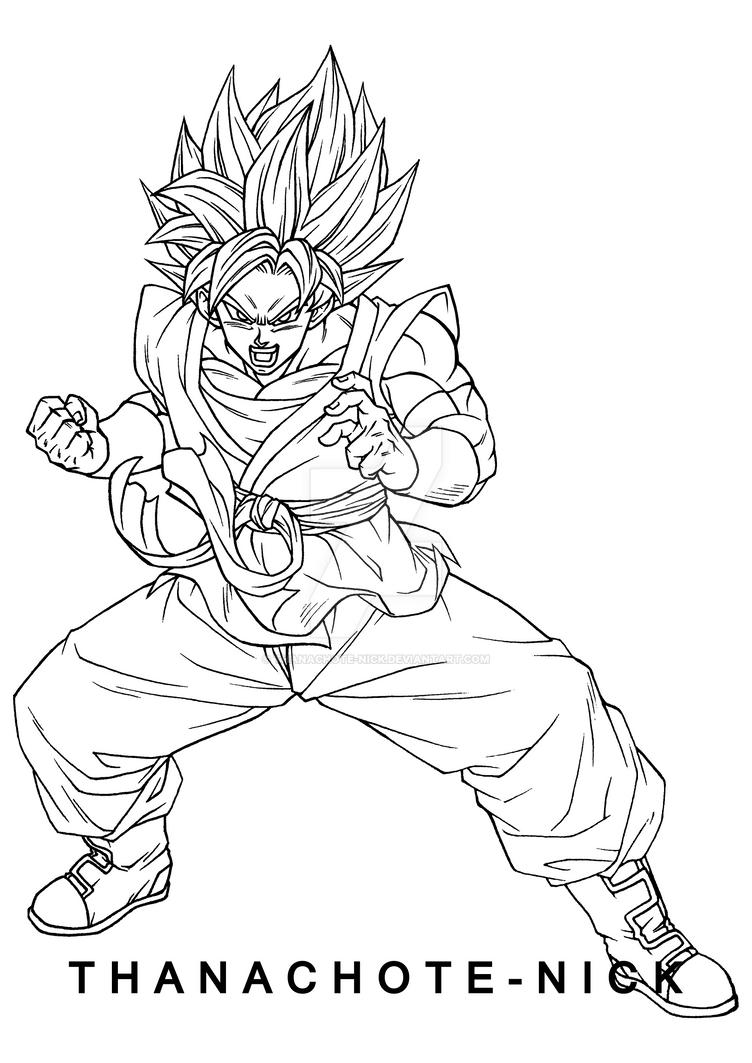 Goku SSGSS - SDBH by Thanachote-Nick