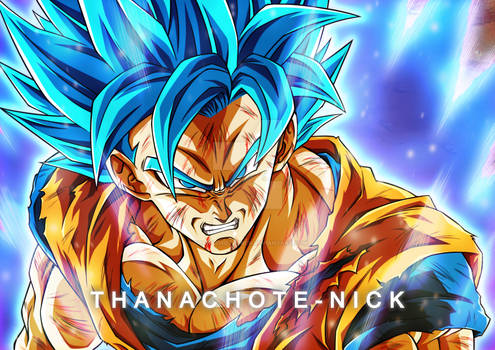 Goku SSGSS (Redraw) - DBS [Fx and BG]