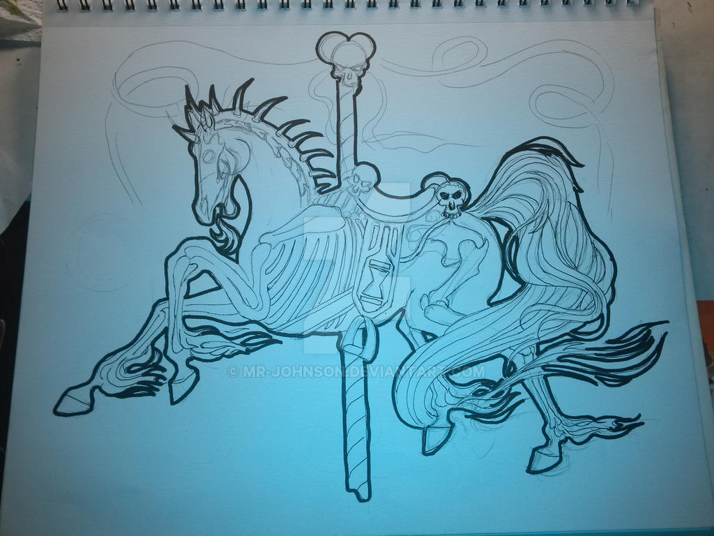 WIP: Carousel, Death Horse by mr-johnson