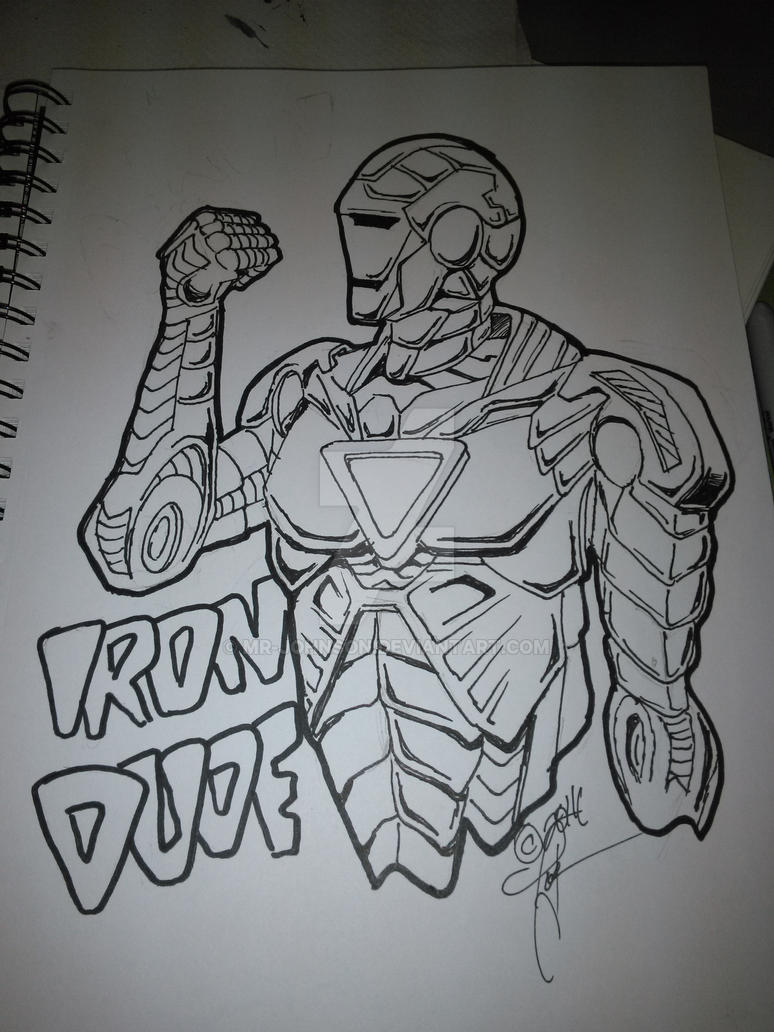 Warm-up 2.3.2016, Iron Dude by mr-johnson