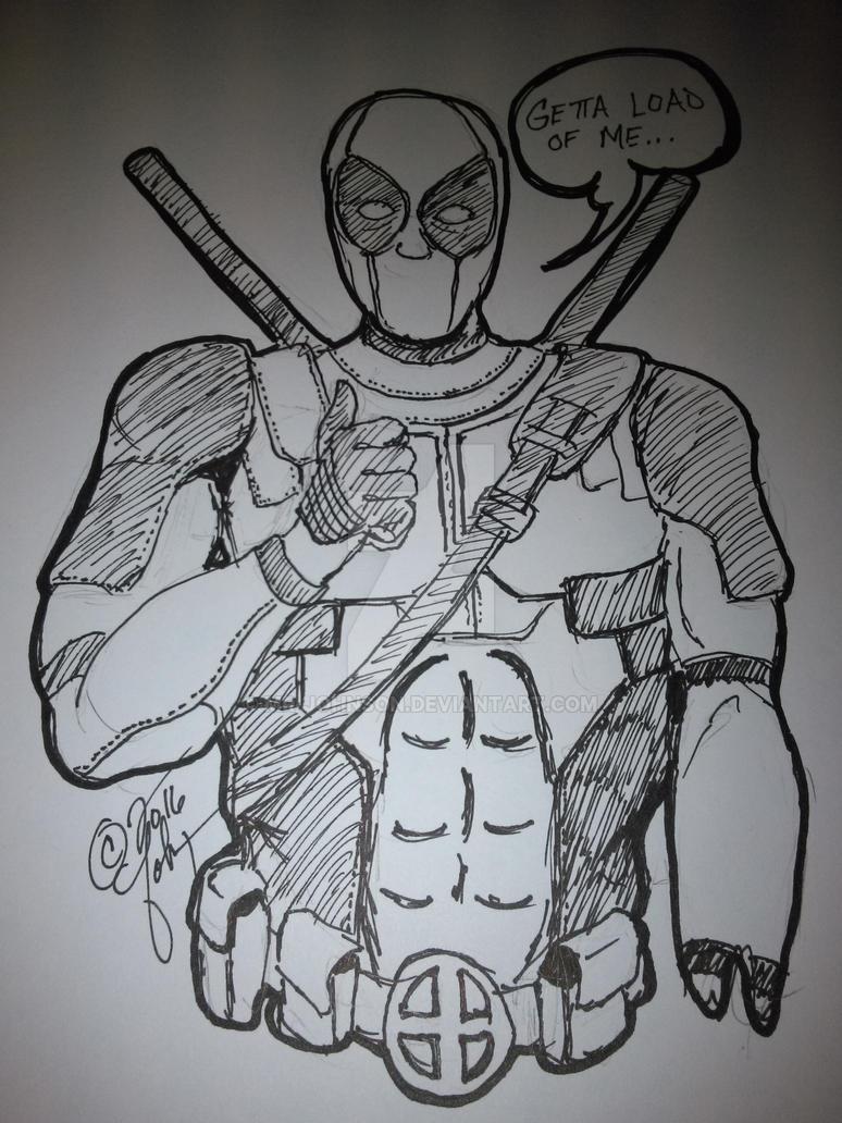 Warm-up #2 Deadpool by mr-johnson