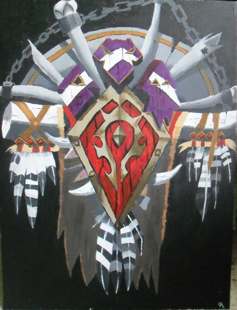 world of warcraft wallpaper horde crest wwwimgkidcom