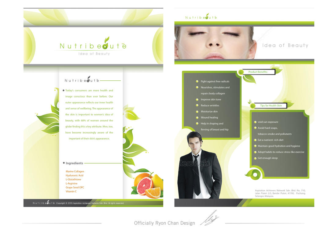 Healthcare Brochure Design By Ryon Chan by ryonchan on DeviantArt – Healthcare Brochure