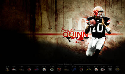 Brady Quinn Schedule Wall by DraftPick