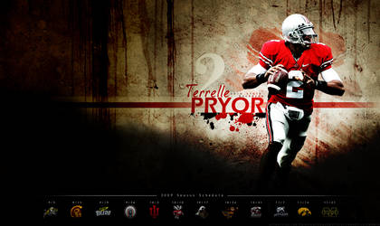 Terrelle Pryor Schedule Wall by DraftPick