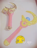 Sailor Moon Moon Stick Perler by Awi87