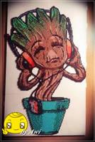 Baby Groot Perler by Awi87