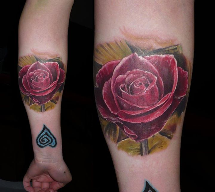 rose tattoo forearm by SkinLaboratory on DeviantArt