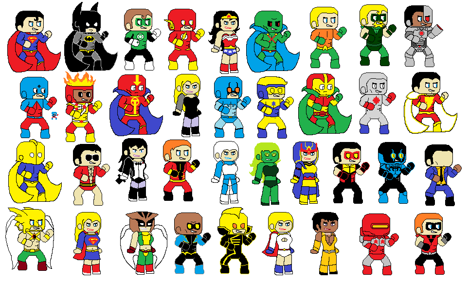 Cartoon Characters Justice League : Justice league members of the ages by dcmasterrobarts on