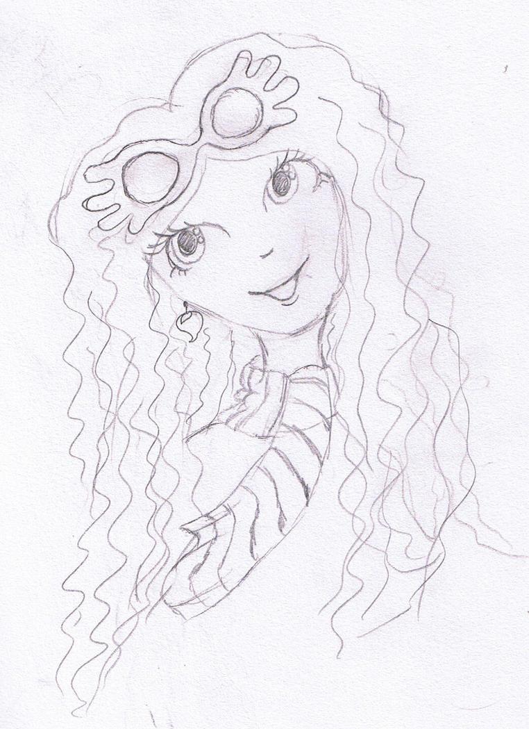 Luna lovegood lineart by miss joan123 on deviantart for Luna lovegood coloring pages